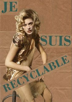 Rodolphe Kollagen - Je suis recyclable  #recyclable #misogynie #collage