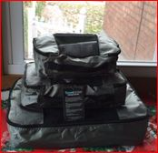"""""""The cubes kept my clothes from moving around and ending up everywhere."""" #EatSmart TravelWise Packing Cube System #review by #GoneKlippinKrazy. #travel #packingtips"""