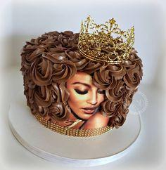 Cake Decorating Frosting, Creative Cake Decorating, Cake Decorating Videos, Birthday Cake Decorating, Cake Decorating Techniques, Diva Birthday Cakes, Elegant Birthday Cakes, Beautiful Birthday Cakes, Beautiful Cakes