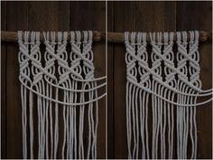 Kaarnan katveessa: Kuvalliset ohjeet: makramee seinävaate New Business Ideas, Macrame Projects, Macrame Tutorial, Clothes Hanger, Knots, Diy And Crafts, Crafty, Sewing, Knitting