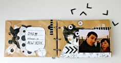 rosa verdosa. mix media. art journal. collage. black. white. mini album. scrapbook. Brooklyn. New York