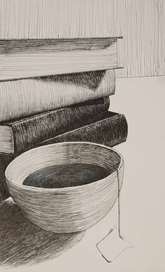 Cross Contour Breadth | A cross-contour drawing uses lines that seem to move along the surface of the objects in the composition. These lines emphasize the volume of the objects by wrapping around them.: