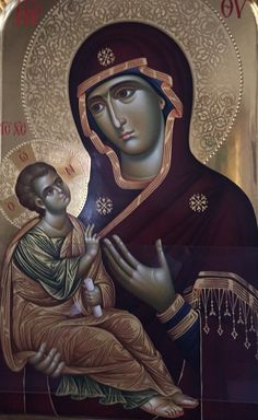 Religious Icons, Religious Art, Greek Icons, Halo, Byzantine Icons, Blessed Virgin Mary, Jesus Is Lord, Orthodox Icons, Our Lady