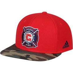 1dfc92a6fdd48b Men's Chicago Fire adidas Red/Camo MLS Snapback Hat, Your Price: $25.99