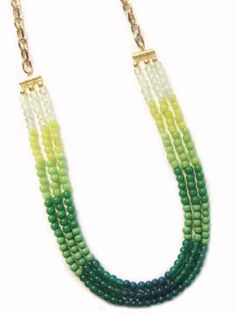 K. Amato Ombre Triple Beaded Necklace
