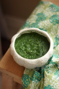 Mint & Coriander Chutney- Indian Green Chutney. Ingredients: 2.5 cups fresh coriander (cilantro) leaves; 1/2 cup fresh mint leaves; 1/2 small onion, coarsely chopped – Optional; 6 – 8 cloves garlic; 1/2 inch fresh ginger, peeled and chopped – Optional; 3 hot green chili peppers; 2 Tbsp fresh lemon juice; 2-3 Tbsp H2O or as needed to make the chutney of a pesto consistency; 1 tsp cumin seeds; 2-3 Tbsp fresh grated coconut (optional); salt to taste. Blend/puree all ingredients until smooth.