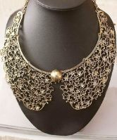 #SheInside - Gold Bead Collar necklace