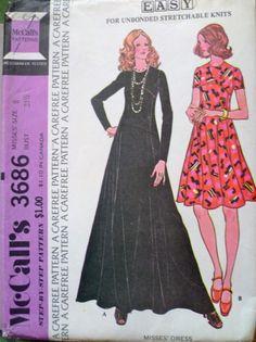 70s Shaped Seaming High Waist Dress Pattern Size by PatternMatters, $12.00