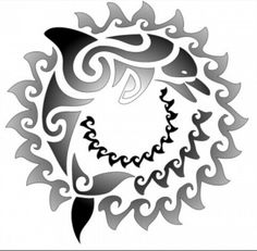 Dolphin waves tat...i want this around my belly button