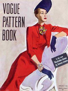 Vogue Pattern Book April/May 1938 #vintage #fashion #1930s