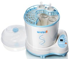 This is an Electric Baby Bottle Steam Sterilizer and Dryer