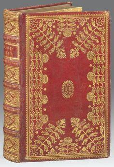GISBERT (le R.P. Blaise)    Die christliche Beredsamkeit... Augsbourg, Wolff, 1759. In-8, maroquin rouge, grand décor doré sur les plats, dos orné, gardes de papier d'Augsbourg, tranches dorées (Reliure de l'époque).
