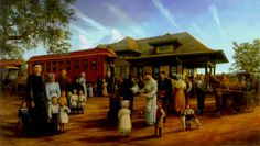 LOUISANA - LOUISANA ORPHAN TRAIN MUSEUM Robert Dafford Mural