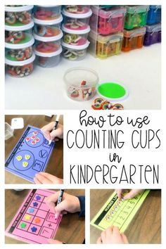 Counting Cup Math Mats - Differentiated Kindergarten