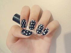 'White In Black' nails!