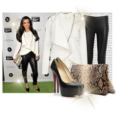 Celebrity Style: Kim Kardashian, created by nastyaafanasova on Polyvore