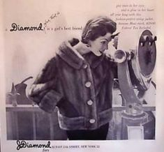 History of 1950s Coats and Jackets: Late 1950s Short Mink Coat