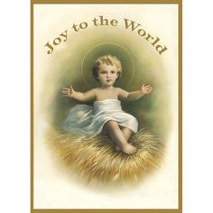 JOY TO THE WORLD CHRISTMAS CARD - JOY TO THE WORLD CHRISTMAS CARD 20 Cards and Envelopes Greeting Inside Reads: May the Christ Child shower blessings upon you this Christmas and throughout the New Year. This gorgeous Christmas card depicts our humble Lord Jesus as a small child, His arms open wide to receive you in love and friendship. Send greetings of joy to friends and family, add to the cart or wish list above.