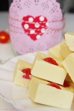 Cherry Almond Fudge made in the microwave