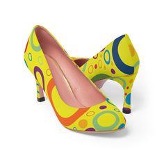 #YellowPumps #HighHeels #HighHeelPumps #FashionShoes #WomanShoes #ShoesForSale #CasualFashion #WomenPumps #CourtShoes #PrintedHeels #PrintedShoes