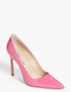 Manolo Blahnik Pink Bb Pointy Toe Pump