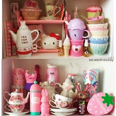 Collection on my kawaii kitchenware. Check out more of my kawaii room on my Instagram: on.wednesday
