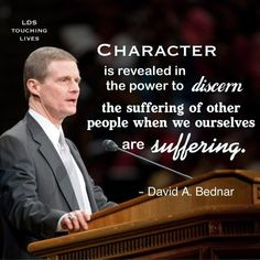 Something to aspire to. When we are struggling with something, identify someone else that is experiencing something and help them through it. Losing ourselves in service is the best cure. #bednar #lds #quotes