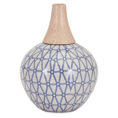 With a geometric pattern and distinctive design, the petite IMAX Ripley Table Vase is truly unlike any other. This vase expertly complements a mid. Tall Floor Vases, Contemporary Vases, Hanging Vases, Lowes Home, Ceramic Vase, Interior Styling, Modern Furniture, Mid-century Modern, Ceramics