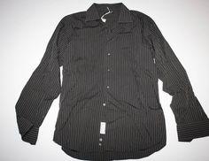 Camicia vintage italiana manica lunga era a righe di Lindymarket su Etsy