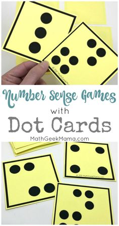 Number Sense Activities with Visual Dot Cards {Grades can find Number sense and more on our website.Number Sense Activities with Visual Dot Cards {Grades Easy Math Games, Math Card Games, Card Games For Kids, Fun Math, Number Games For Kids, Math Math, Dice Games, Subitizing Activities, Kindergarten Math Games