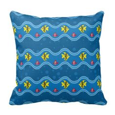 Cute Colorful Fish Blue Waves