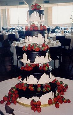 Cake. Chocolate. Strawberries. Mmmm :)