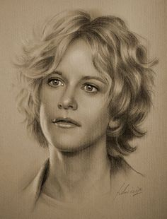 Meg Ryan….Pencil art by Dumage