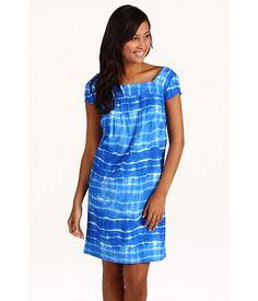 Jones New York Sport Printed Tie Dye Linen Sun Dress