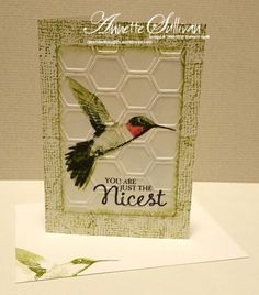 Lavender Thoughts | Annette Sullivan | Stampin' Up! Picture Perfect Olive Hummingbird - 4 step stamping
