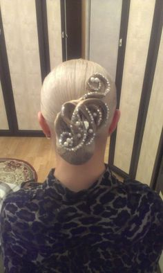 Competition hairstyle #Ballroom #Hair #Dancesport