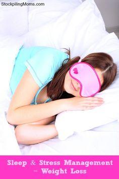 Sleep & Stress Management = Weight Loss