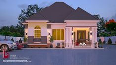 1 new message 3 Bedroom Bungalow, Bungalow House Design, Bungalow Designs, House Construction Plan, Semi Detached, Building Design, Floor Plans, Exterior, Mansions