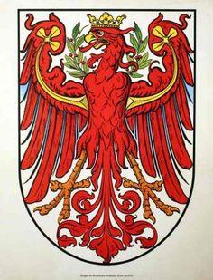 Wappen der Gefürsteten Grafschaft Tirol, um 1900. by Tirol -: ohne Künstlerbez.: um - Antiquariat Gallus