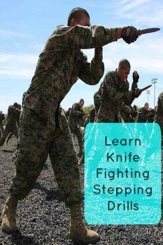 Learn knife fighting stepping drills. #martialarts #streetfight Self-Defense Weapons, Self-Defense Tips, Self-Defense Moves, Workout, Self-Defense Techniques https://www.survivalfitnessplan.com/knife-defense-knife-stepping-drills PIN THIS FOR LATER!