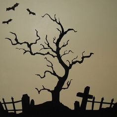 /halloween-graveyard-and-fence-only-vinyl  Our cardboard sillouettes lasted two seasons in winter