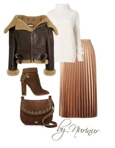 """""""Brown AMD metalized.Must have winter16'"""" by nurinur ❤ liked on Polyvore featuring Miss Selfridge, Diane Von Furstenberg, Balenciaga, Aquazzura and Kate Spade"""