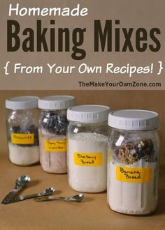 Homemade Baking Mixes here's the simple method I use to make your own baking mixes from recipes that are already your favorites is part of Homemade baking mix - Homemade Cake Mixes, Homemade Spices, Homemade Seasonings, Homemade Food, Diy Food, Homemade Things, Homemade Products, Homemade Recipe, Weight Watcher Desserts