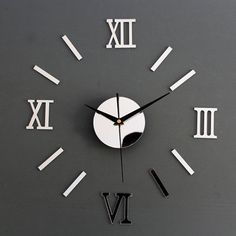 Roman Mirror Wall Clock