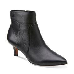 Womens Boots Clarks Morela Liza Black Leather