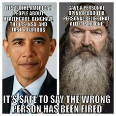 Put Phil Robertson back on Duck Dynasty and apologize for discrimination and violating freedom of speech Robertson Family, Phil Robertson, Liberal Logic, Wrong Person, Wise Person, Duck Dynasty, Freedom Of Speech, Fast And Furious, Current Events