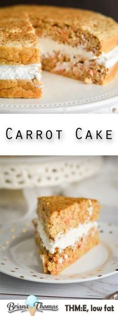 Carrot Cake - Trim Healthy Mama friendly - low fat - gluten free - nut free - sugar free - THM:E