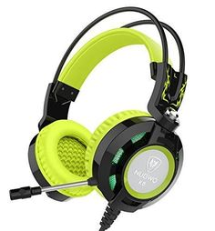 Nubwo K6 Gaming Headset with Microphone, Comfortable Headphones for Laptop PC Computer (Black/green)