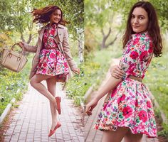 Katherine Adamenko - Sheinside Dress - Flowerbomb