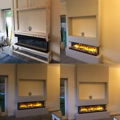 Check out this stunning installation of our customers Flamerite Glazer 1500 3 sided electric fire. To find out the price of this fire ring us on 0151 525 9980 or check out the link below Electric Wall Fireplace, Fireplace Feature Wall, Feature Wall Living Room, Living Room Decor Fireplace, Fireplace Tv Wall, Living Room Built Ins, Build A Fireplace, Decor Home Living Room, Fireplace Remodel